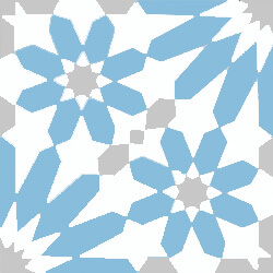 Floral and blue cement tiles