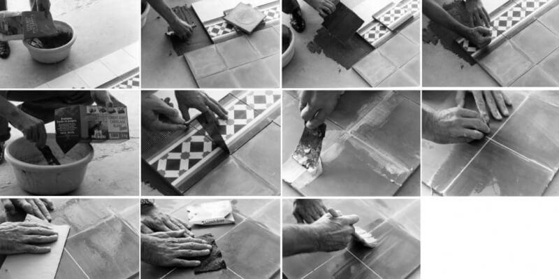 comment traiter et poser des vrais carreaux de ciment