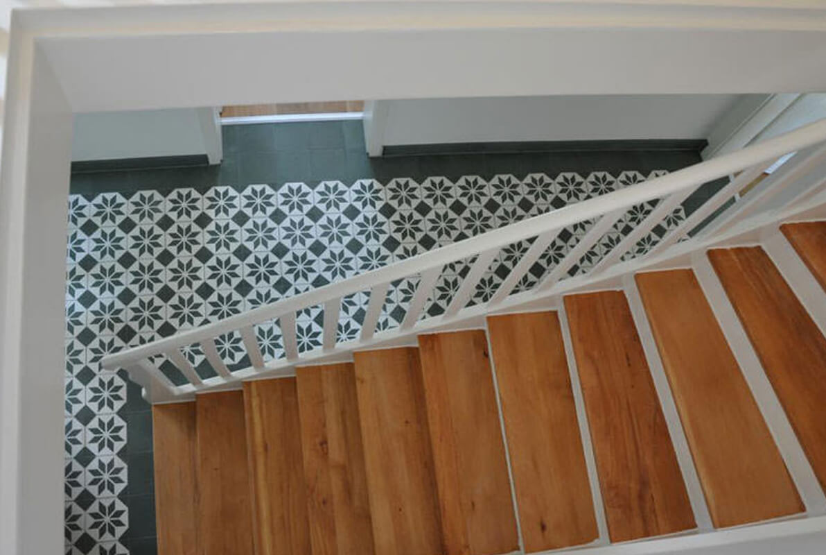 escalier carreaux de ciment