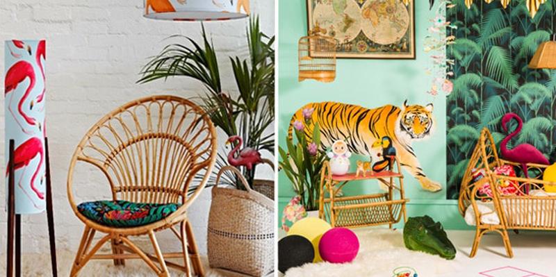 la décoration tropicale tendance