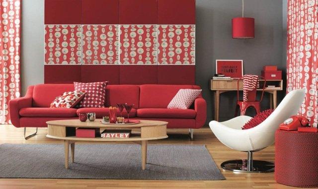 le rouge couleur tendance pour un salon