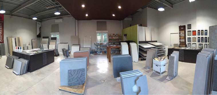 nouveau showroom les carrelages par cimenterie de la tour