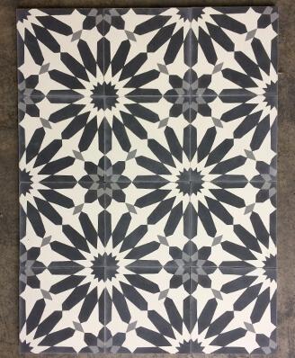 Carreaux de ciment motifs floraux par Cimenterie de la Tour