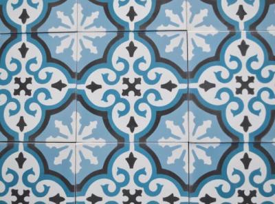 Carreaux de ciment aux motifs méditerrannéen par Cimenterie de la Tour, Paris 75