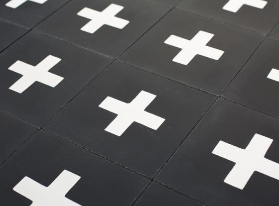 Motif carreaux de ciment design Piergil Fourquié à Paris, édition Cimenterie de la Tour
