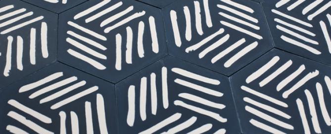 carreaux de ciment designé par piergil fourquié et édité par la cimenterie de la tour