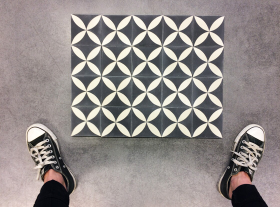 Wall in cement tile in Bath by Cement tiles Co Uk