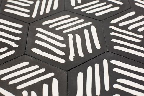 Carreaux de ciment tendance à motif Piergil Fourquié designer Paris 75, par Cimenterie de la Tour