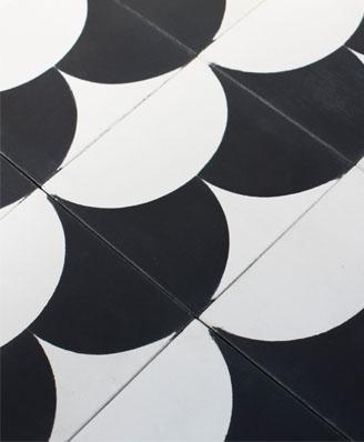 Carreaux de ciment tendance et moderne par le designer Piergil Fourquié à Paris 75, édition Cimenterie de la Tour