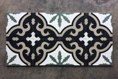 Carreaux de ciment anciens floraux Bourges 18, Cimenterie de la Tour