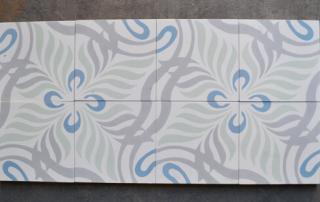 Carreaux de ciment moderne et floral Tourron sur Rhone 07, Cimenterie de la Tour