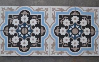 Motifs floral carreaux de ciment Castres 81, Cimenterie de la Tour
