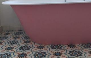 Sol de salle de bain en carreaux de ciment anciens à Carcassonne 12, Cimenterie de la Tour