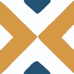 orange geometrische zementfliesen, zementfliesen spezialisten