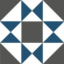 Blaue geometrische zementfliesen, zementfliesen spezialisten