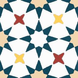 Carreaux de ciment étoile colorée