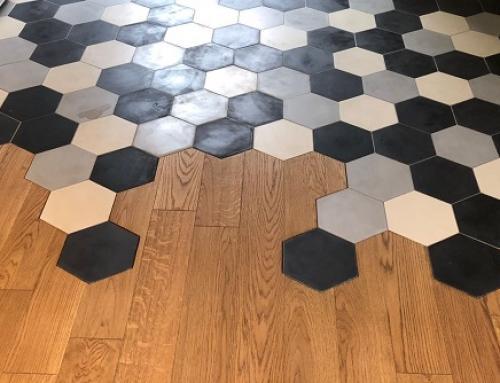Les carreaux de ciment hexagonaux