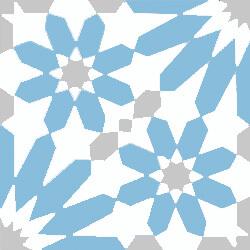 Carreaux de ciment floral bleu