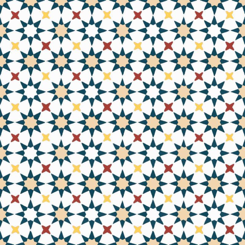 Carreaux de ciment motifs étoile coloré Cimenterie de la Tour