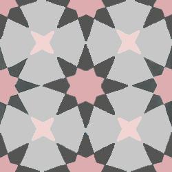 carreaux de ciment rose étoilés