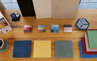 carreaux de ciment uni coloré à paris