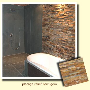 parements muraux dans une salle de bain