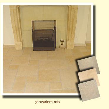cheminée en pierre de jerusalem