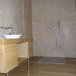 salle de bain chaux mur