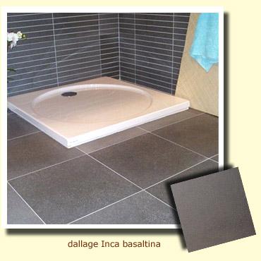 bac à douche salle de bain en pierre grise