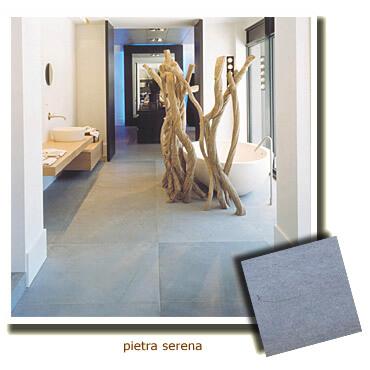 salle de bain en pierre naturelle grise