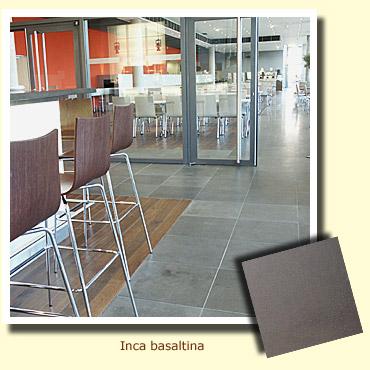 sol d'un restaurant en pierre