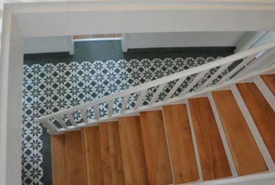 escalier en carreaux de ciment
