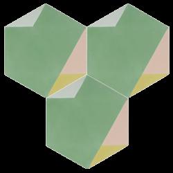 Carreau de ciment – Hexagone – MELIPAPIFRESH-D