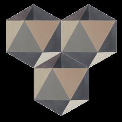 Carreau de ciment – Hexagone – MELIPAPIGREY-A