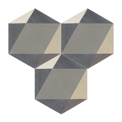 Carreau de ciment – Hexagone – MELIPAPIGREY-B