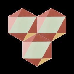Carreau de ciment – Hexagone – MELIPAPIRED-B