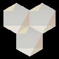 Carreau de ciment - Hexagone MELIPAPIWHITE-C