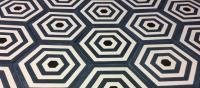 carreau de ciment hexagonal géométrique bleu
