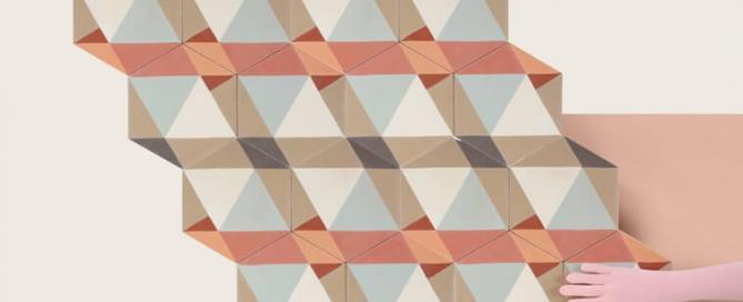 carreaux de ciment forme hexagonale dessinés par Eli Gutierrez Designeuse et édités par Cimenterie de la Tour