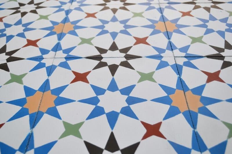 geometric cement tile
