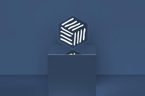 Motif moderne dessiné par un designer français.