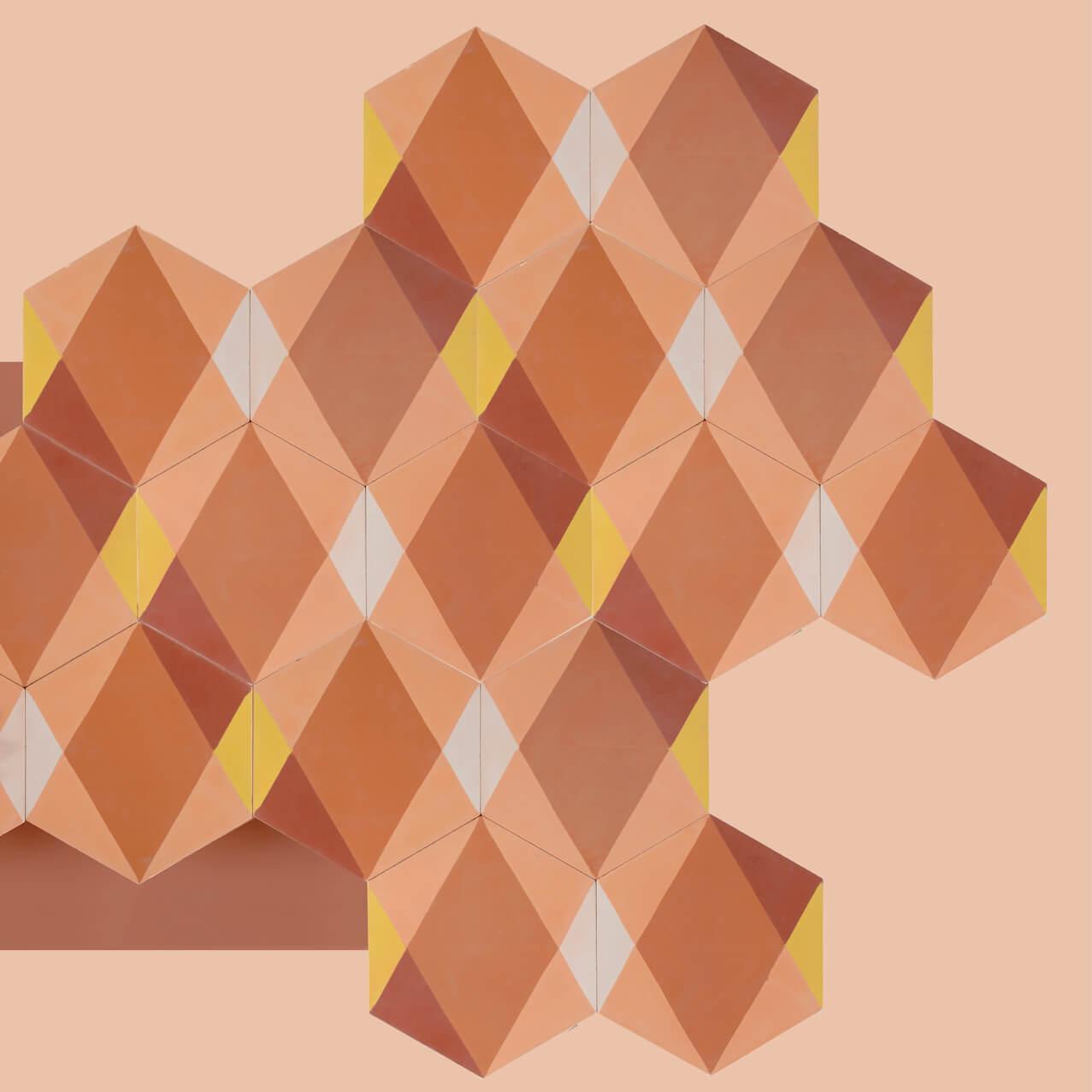 carreaux de ciment hexagonaux géométriques tendances