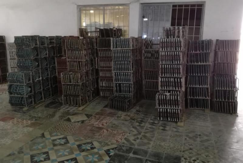 atelier de fabrication de carreaux de ciment