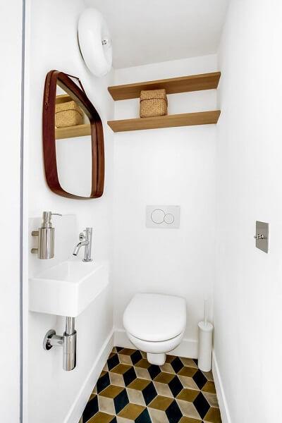 carreaux de ciment dans un toilette moderne