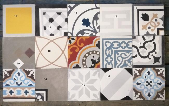 patchwork carreaux de ciment