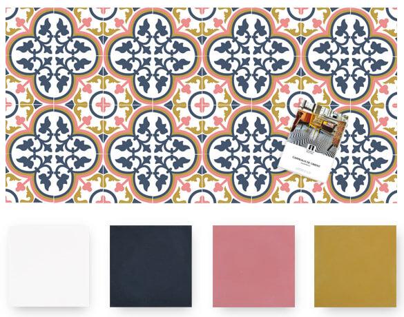 carreaux de ciment aux motifs modernes et couleurs tendances