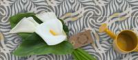 décoration granito unis jaune