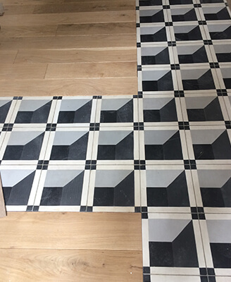 floor cement tile geometric and modern