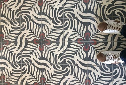 floral cement tiles