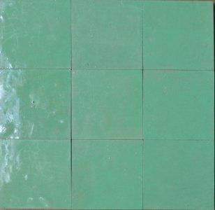 zellige z15 vert d'eau cimenterie de la tour
